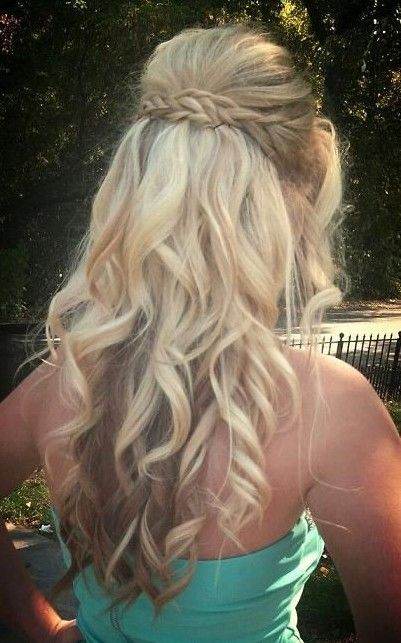 Prom Up-Do Hair Idea - Braided Blonde